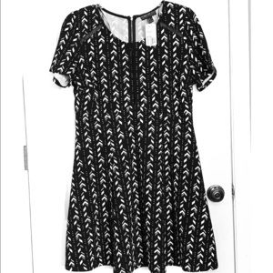 Black and Ivory Forever21+ dress. New with tags!